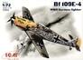 Немецкий истребитель Messerchmitt Bf-109 E4 ICM 72132 основная фотография