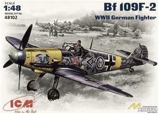 Немецкий истребитель Messerchmitt Bf-109 F2 ICM 48102