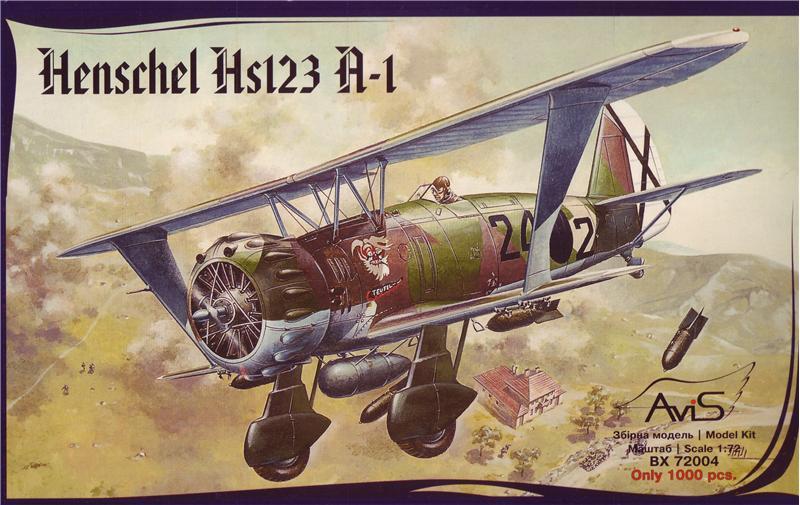 Самолет Hs123 A-1 Avis 72004