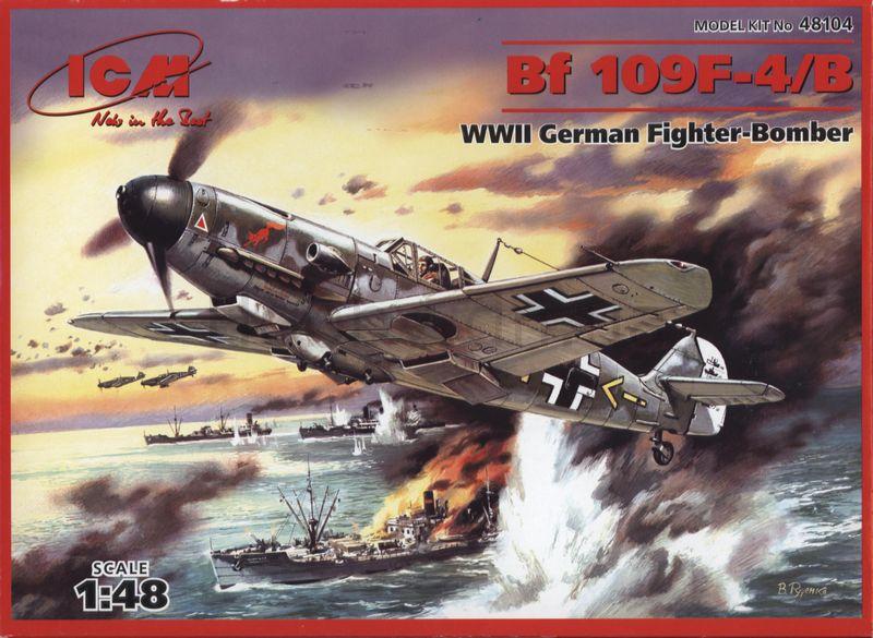 Немецкий истребитель Messerchmitt Bf 109F-4/B ICM 48104