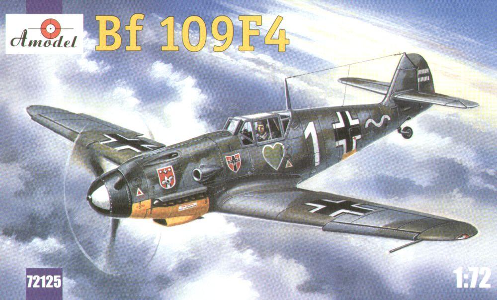 Истребитель Мессершмитт Bf-109F4 Amodel 72125