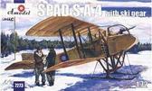Французский истребитель-биплан на лыжном шасси