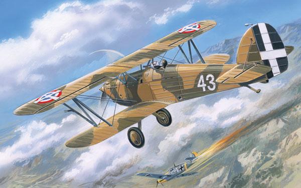 Морской истребитель-биплан Hawker Fury  ВВС Югославии Amodel 72140