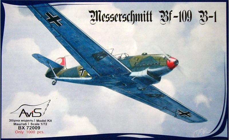 Немецкий истребитель Messerschmitt Bf-109 B-1 Avis 72009