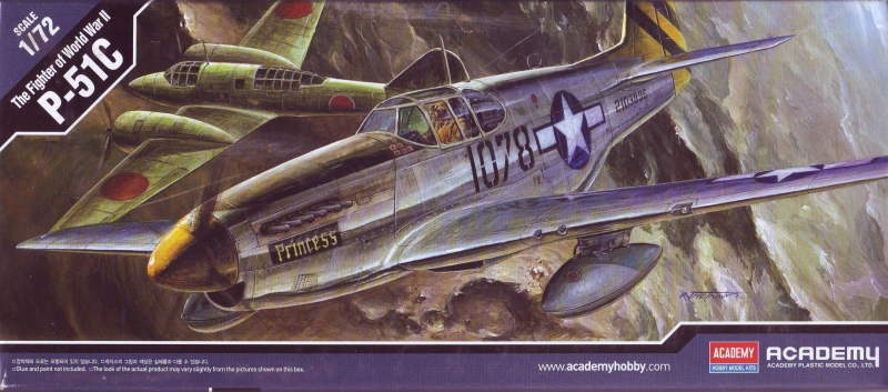 Истребитель P-51C Mustang Academy 12441
