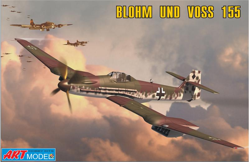 ART7202 Blohm und Voss 155V2 WWII German interceptor Art Model 7202