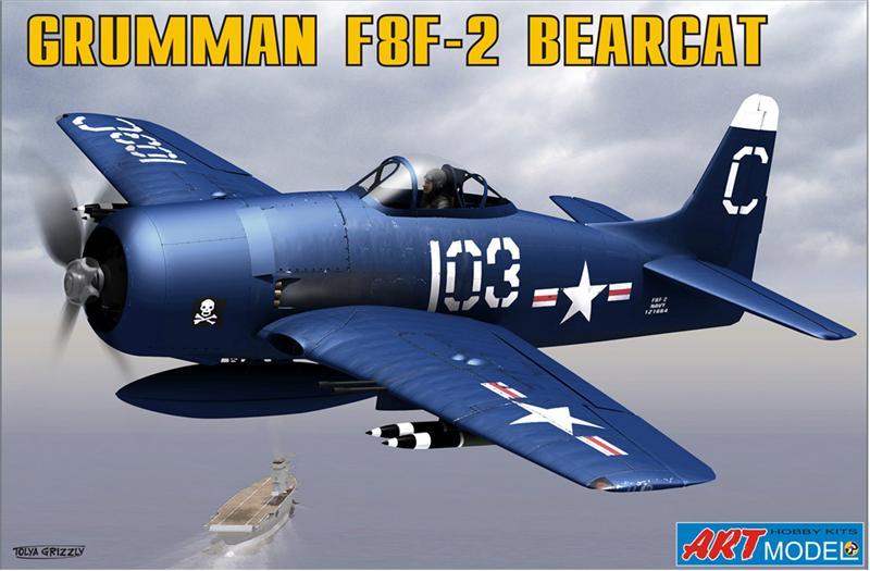 ART7201 Grumman F8F-2 BEARCAT USAF carrier based fighter Art Model 7201