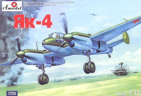 Советский лёгкий разведчик-бомбардировщик Як-4 Amodel 7235