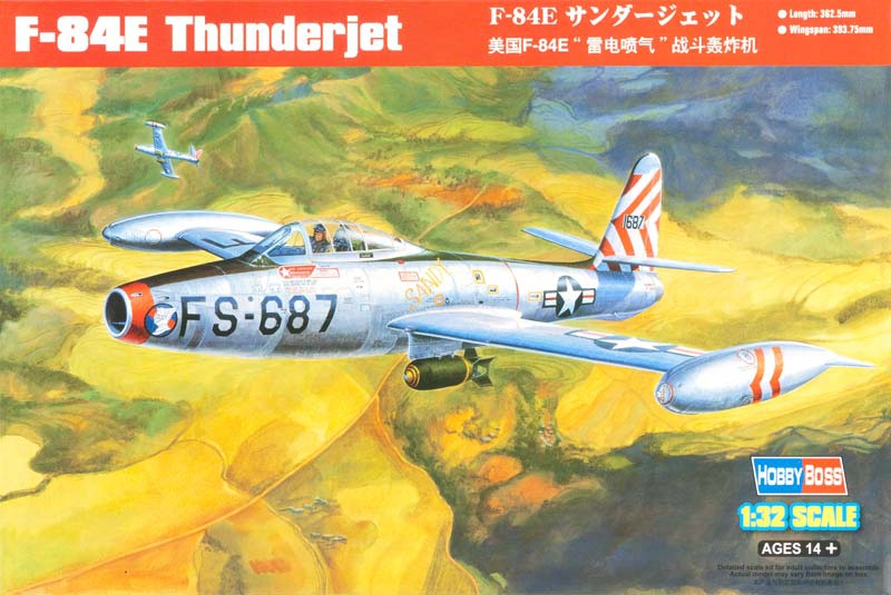 Истребитель F-84G Thunderjet Hobby Boss 83207