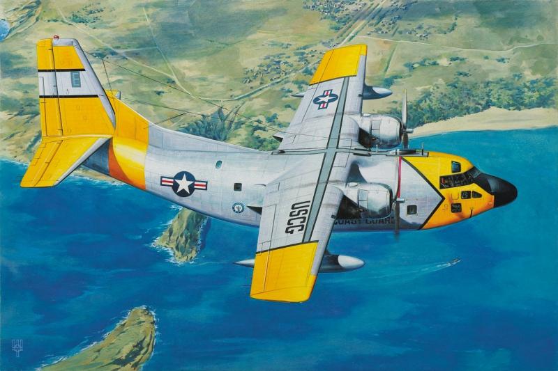 Военно-транспортный самолет Fairchild HC-123B Provider Roden 062