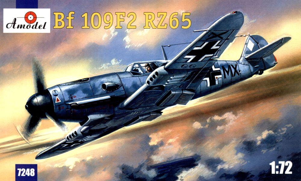 Истребитель Люфтваффе Me Bf-109F2 Amodel 7248