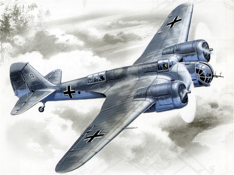 Немецкий бомбардировщик Avia B-71 ICM 72163