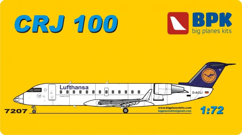 Пассажирский самолет Bombardier CRJ 100 Lufthansa airways Big Planes kits 7207