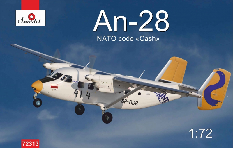 Пассажирский самолет Ан-28, польская версия Amodel 72313