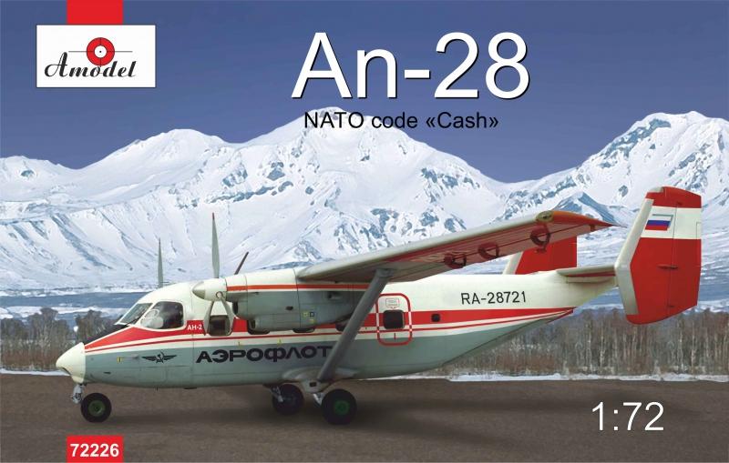 Пассажирский самолет Ан-28, полярный Amodel 72226