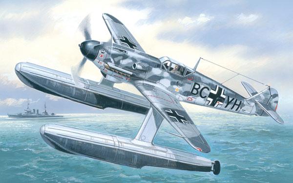 Германский поплавковый истребитель Messerschmitt Bf-109W Amodel 7275