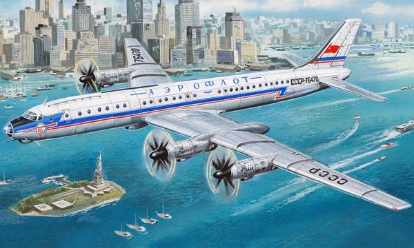 Турбовинтовой дальнемагистральный пассажирский самолет Ту-114 Amodel 72024