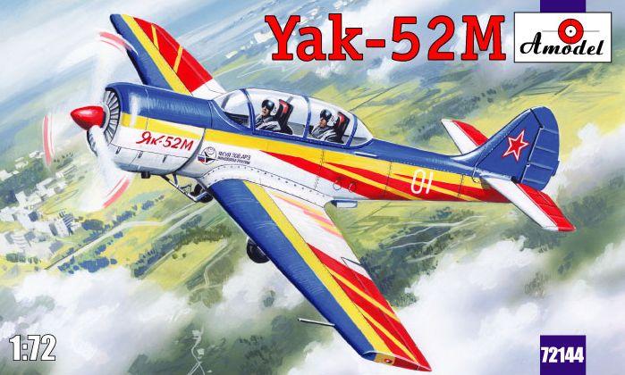 Двухместный самолет первоначальной летной подготовки Як-52М Д Amodel 72144