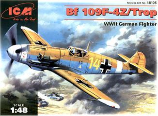 Немецкий истребитель Messerchmitt Bf-109 F4Z/Trop ICM 48105