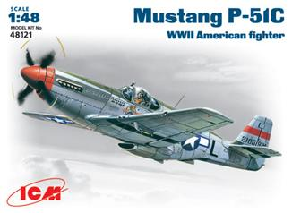 Истребитель Mustang P-51C ICM 48121