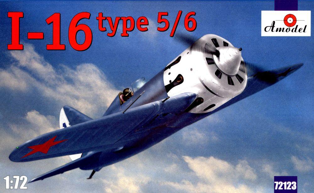 Советский одномоторный поршневой истребитель И-16 тип 5/6 Amodel 72123