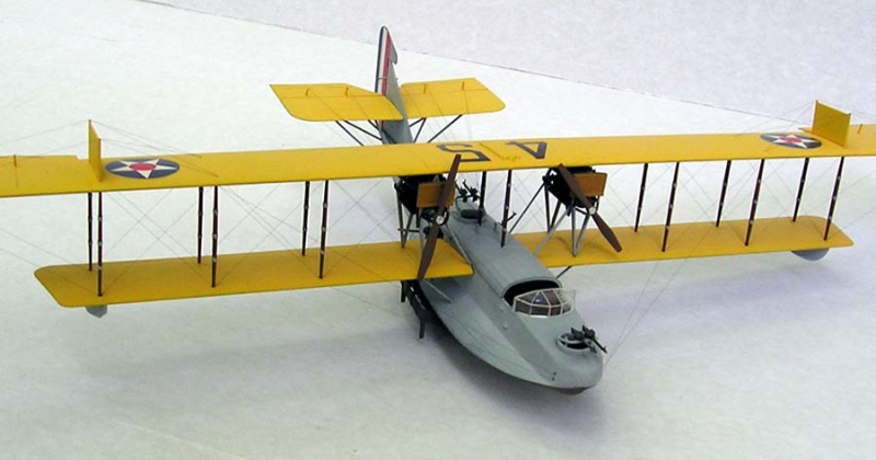 Истребитель-биплан Curtiss H-16 US NAVY aircraft Roden 049