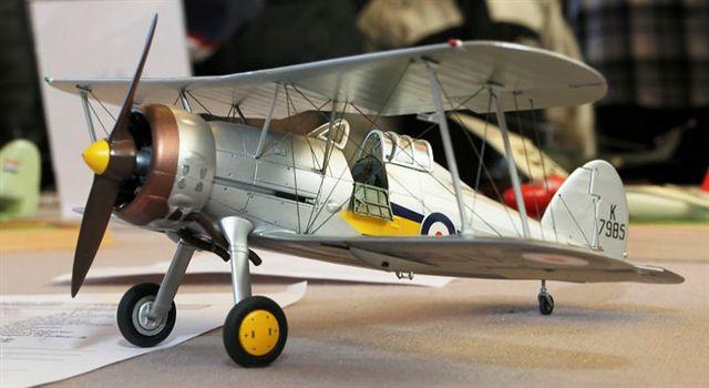Британский биплан Gloster Gladiator Mk 1 Roden 408