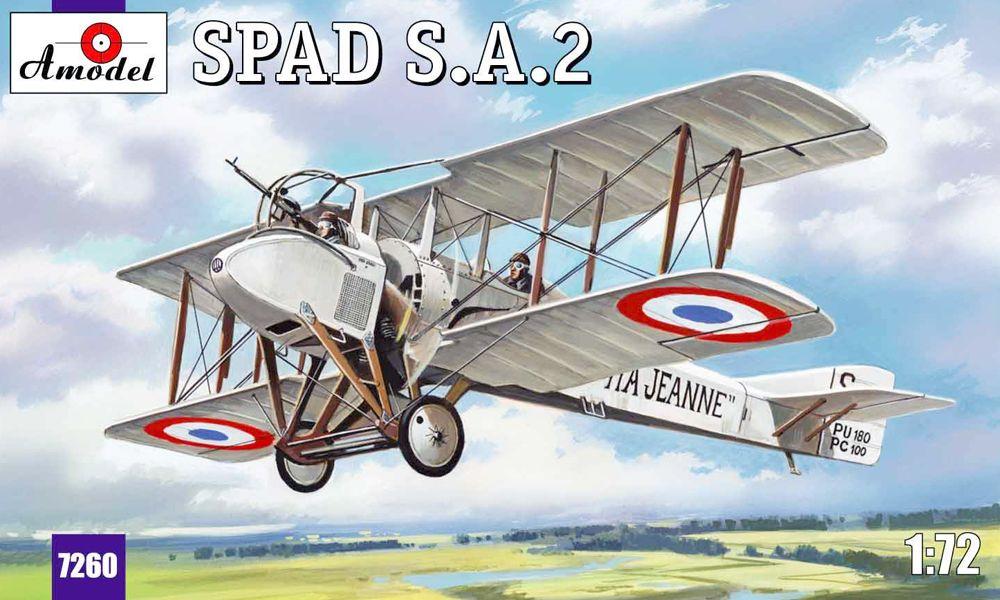 Французский истребитель-биплан SPAD A2 Amodel 7260