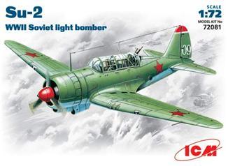 Советский легкий бомбардировщик Су-2 ICM 72081