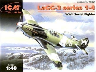 Советский истребитель ЛаГГ-3 серия 1-4 ICM 48091