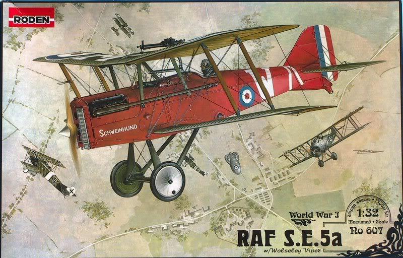 Британский истребитель RAF S.E.5a w/Wolseley Viper Roden 607