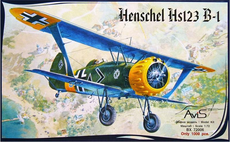 Штурмовик Henschel Hs123 B-1 Avis 72006