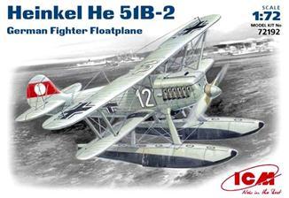 Германский истребитель-гидроплан Heinkel He-51 B2 ICM 72192
