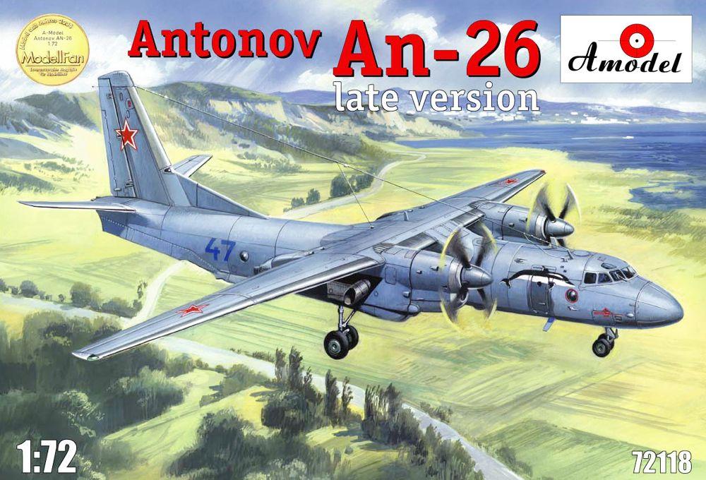 Транспортный самолет Антонов АН-26 (поздняя версия) Amodel 72118