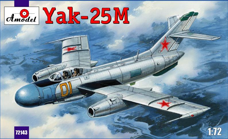 Истребитель Яковлев Як-25M Amodel 72143
