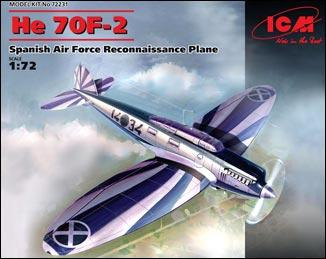 Испанский самолет-разведчик Heinkel He 70F-2 ICM 72231