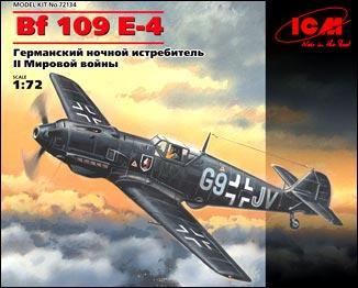 Немецкий ночной истребитель Messerschmitt Bf 109E-4 ICM 72134
