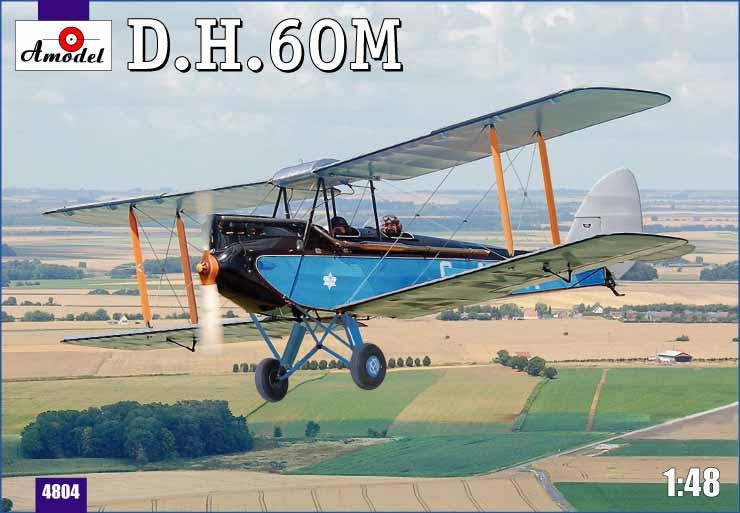 Биплан de Havilland DH.60M Metal Moth Amodel 4804