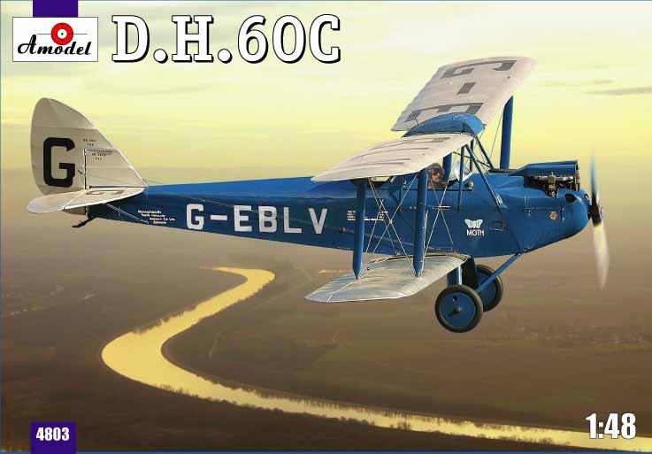 Биплан de Havilland DH.60C Cirrus Moth Amodel 4803