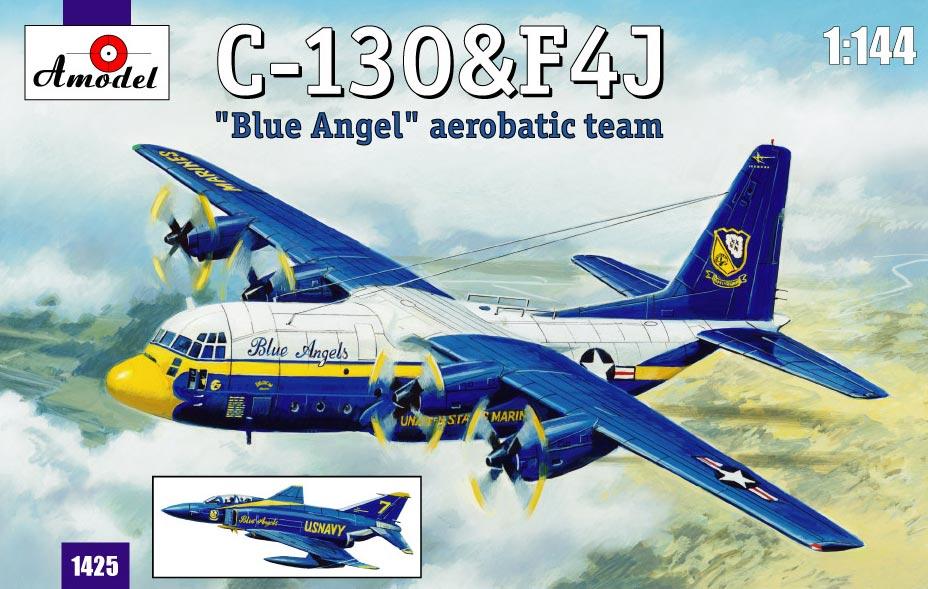 Транспортний самолет C-130 и истребитель F4J