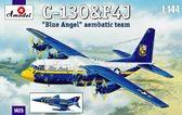 Транспортний самолет C-130 и истребитель F4J Blue Angels