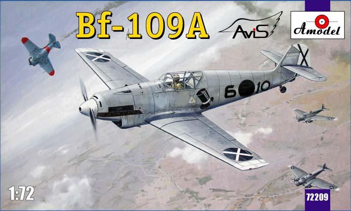 Немецкий истребитель Messerschmitt Bf-109A Amodel 72209