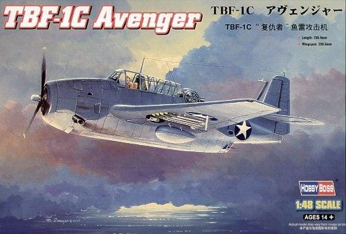 Бомбардировщик TBF-1C Avenger Hobby Boss 80314