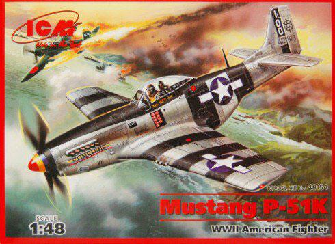 Истребитель Мустанг P-51K ICM 48154