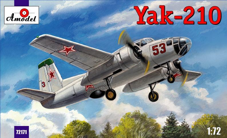 Сборная масштабная модель самолета Як-210 Amodel 72171