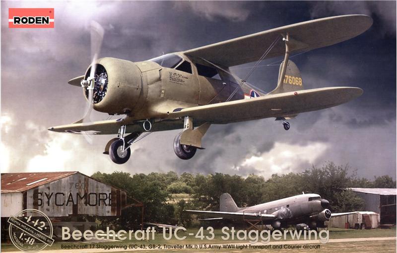 Самолет Бичкрафт UC-43 Стайгервинд Roden 442