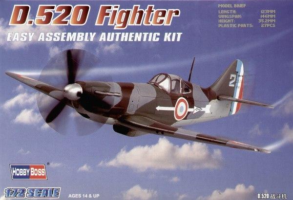 Французский истребитель D.520 Hobby Boss 80237