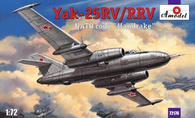 Истребитель-перехватчик Як-25РВ/РРВ Amodel 72176