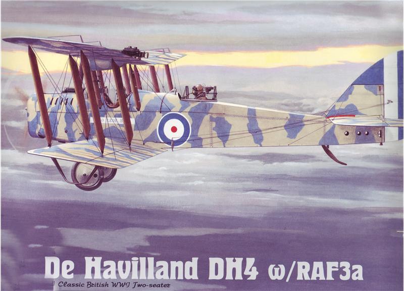 Cамолет Havilland DH4 w/RAF3a Roden 432