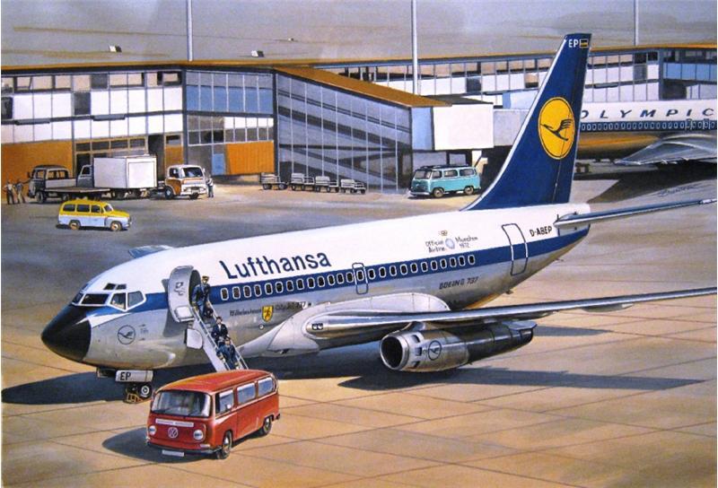 Гражданский авиалайнер Boeing 737-100 Eastern Express 14415
